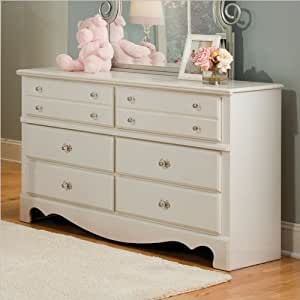 Spring rose 6 drawer dresser girls white for Bedroom furniture amazon