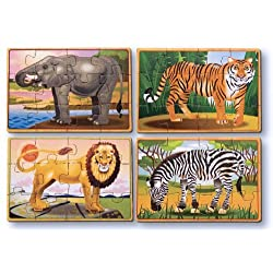 [Best price] Puzzles - Melissa & Doug Deluxe Zoo in a Box Jigsaw Puzzles - toys-games