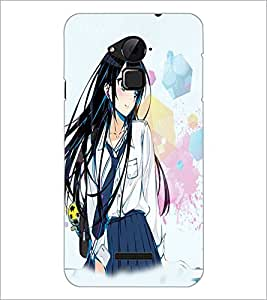 PrintDhaba Cute Girl D-3955 Back Case Cover for COOLPAD NOTE 3 LITE (Multi-Coloured)