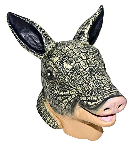 Latex Full Head Scaly Armadillo Mask