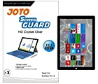 JOTO Microsoft Surface Pro 3 Screen Protector Film, Ultra HD Crystal Clear (Invisible) for 3rd generation Surface Pro 3 (12 inch) Windows 8.1 Pro Tablet with Lifetime Replacement Warranty (3 Pack)