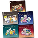 The Large Family 5 Children books Set Collection (A Quiet Night In, A Piece of Cake, All In One Piece, Mr Large In Charge, Five Minutes' Peace) Jill Murphy