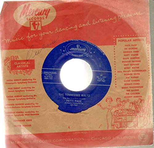 Tennessee Waltz/With My Eyes Wide Open I'm Dreaming 45 rpm 7