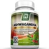 BRI Nutrition Ashwagandha - 90 Count - 1000mg Pure Ashwagandha Root Powder - 2 Veggie Capsules Per Serving