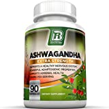 BRI Nutrition Ashwagandha - 90 Count - 1000mg Pure Ashwagandha Root Powder - 2 Veggie Capsules Per Serving