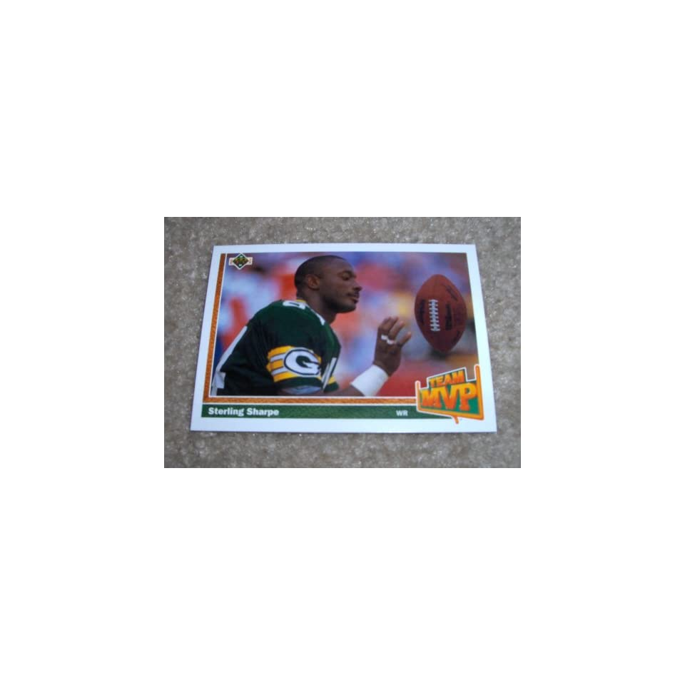 1991 Upper Deck Sterling Sharpe # 459 NFL Football Team MVP Card