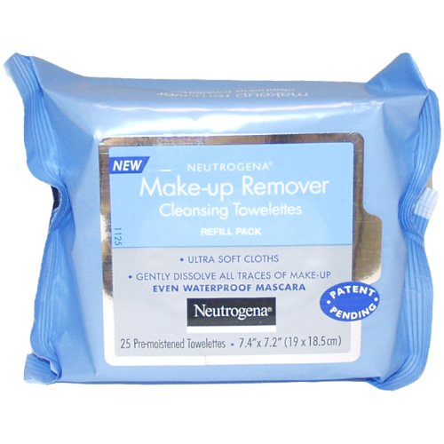 Neutrogena Makeup Remover Cleansing Towelettes, Refill Pack, 25 Count