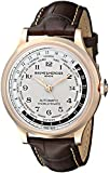 Baume & Mercier Men's A10107 Capeland Rose Gold Automatic Watch with Brown Leather Band
