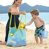 GudeHome Duradera Aplicada Los niños de arena hacia el otro lado Playa bolsa de malla niños juguetes de playa La bolsa de ropa de la toalla Colección de juguetes de bebé Pañal