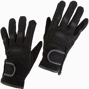 Ultrasport - Guantes de hípica, tamaño S, color negro
