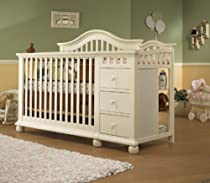 Big Sale Sorelle Cape Cod Crib and Changer with Toddler Rail, French White