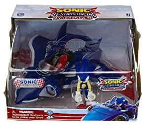 Sonic All-Stars Racing Transformed Sonic The Hedgehog With Plane Action Figurine