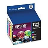 Epson T125120-BCS Set of 4 OEM Ink Cartridges 1 of each Black T125120 Cyan T125220 Magenta T125320 and Yellow T125420