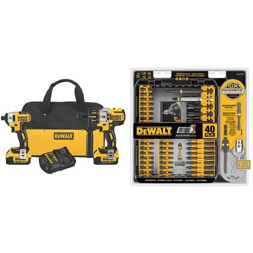 Read About DEWALT DCK296M2 20V XR Lithium Ion Brushless Premium Hammerdrill and Impact Driver Combo ...