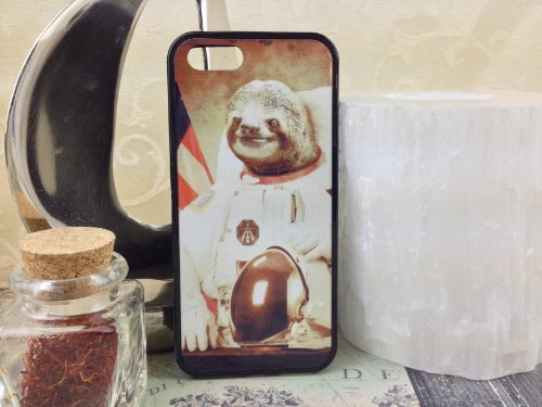Iphone 5, Iphone 5S Astronaut Sloth Case, Crazy Cute. Free Screen Protector!