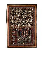 QURAMA Alfombra Persian Classic Patchwork Negro/Multicolor 95 x 64 cm