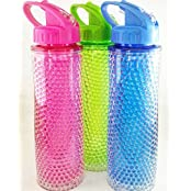Satyam Kraft BIG Frosty Ice Jar Bottle With Straw 700 Ml With Cooling Gel, Freezer For Juice, Beer 1pcs (colour...