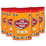 Survival Tabs - 10-Day Food Supply-Emergency Survival Food MRE for Outdoor Activities Camping Biking Also for Disaster Preparedness Gluten-Free Non-GMO The Survival Tabs 25 Years Shelf Life (5 pouches x 24 tablets = 120 Tablets/Butterscotch)