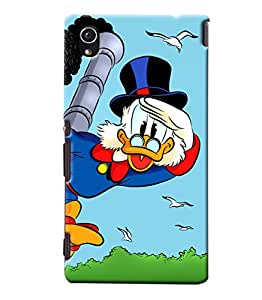 Blue Throat Donald Duck Hard Plastic Printed Back Cover/Case For Sony Xperia M4
