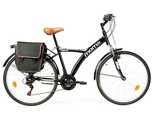 """Bicicletta ibrida SHIMANO. Alluminio, 18 velocidadà, ruota da 26"""", sospensione"""
