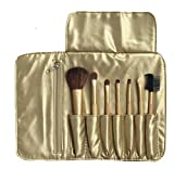 Aimeio 7 Pcs Golden Professional Cosmetic Makeup Brush Set With Bag