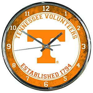 Buy NCAA Tennessee Volunteers Chrome Clock by WinCraft