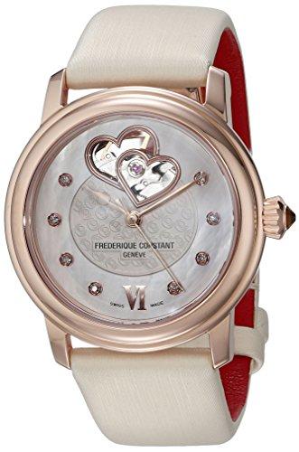 Frederique Constant Geneve Heart Beat Automatic FC-310WHF2P4 Reloj Automático para mujeres con diamantes genuinos