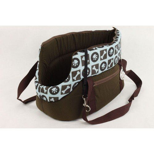 20″ (45cm) Pet Dog Cat Carrier Travel Bag Hand Carry Tote Blue and Brown