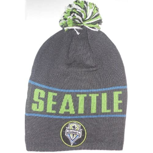 Amazon.com : Seattle Sounders FC MLS Ball Top Long Style Adidas beanie