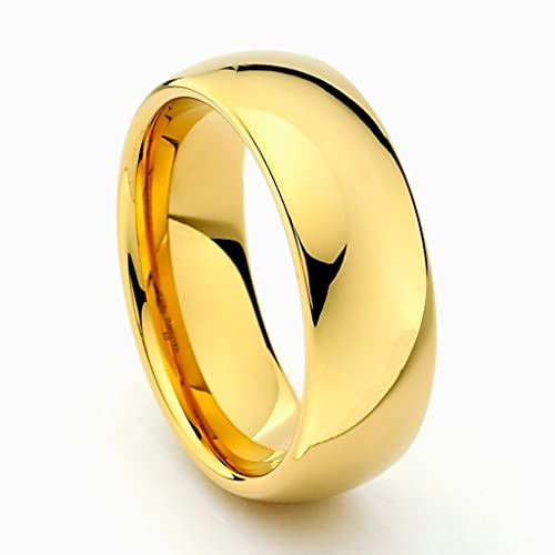 8mm-Cobalt-Free-Tungsten-Carbide-Gold-Plated-COMFORT-FIT-Wedding-Band-Ring-for-Men-and-Women-Size-5-to-15-