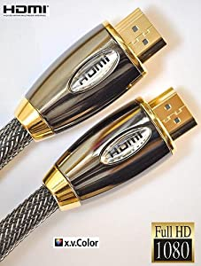 2 METER PRO GOLD RED (1.4a Version, 3D) HDMI TO HDMI CABLE WITH ETHERNET,COMPATIBLE WITH 1.4,1.3c,1.3b,1.3,1080P,PS3,XBOX 360,SKYHD,FREESAT,VIRGIN BOX,FULL HD LCD,PLASMA & LED TV's AND ALSO SUPPORTS 3D TVS.(2m/6.4ft)