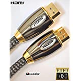 3METER PRO GOLD RED (1.4a Version, 3D, 15.2Gbps) HDMI TO HDMI CABLE WITH ETHERNET,COMPATIBLE WITH 1.3c,1.3b,1.3,1080P/2160P,PS3,XBOX 360,SKYHD,VIRGIN BOX,FULL HD LCD,PLASMA & LED TV's AND ALSO SUPPORTS 3D TVS.by RED RANGE