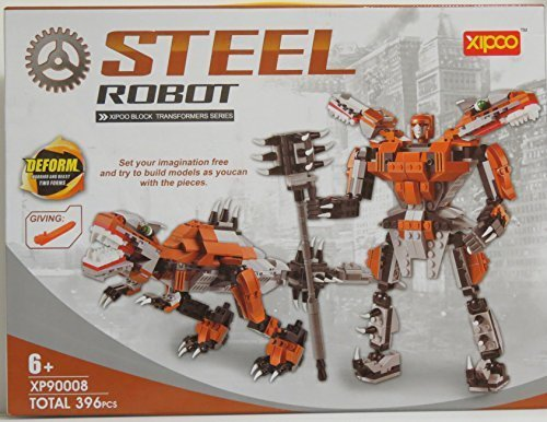ROBOT AND DRAGON STEEL building blocks 396 pcs set, compatible with lego parts, best toy for boys and girls, steel robot makes a grate gift.