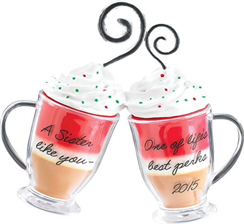2015 Sister - Coffee Cups Carlton Ornament