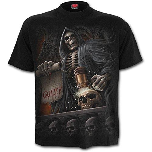 Spiral T-shirt da uomo Judge Reaper, Nero