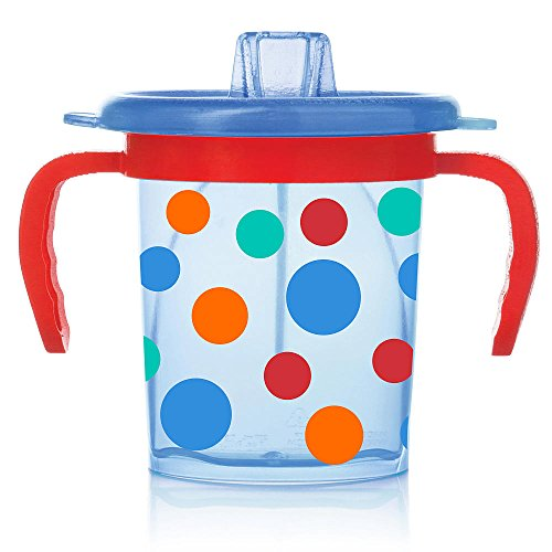 Evenflo Feeding Triple-Flo Tilty Trainer Cup (Blue/Red Polka Dot) (Tilty Cup compare prices)