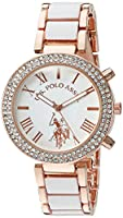 U.S. Polo Assn. Women's Quartz White Dress Watch (Model: USC40091)