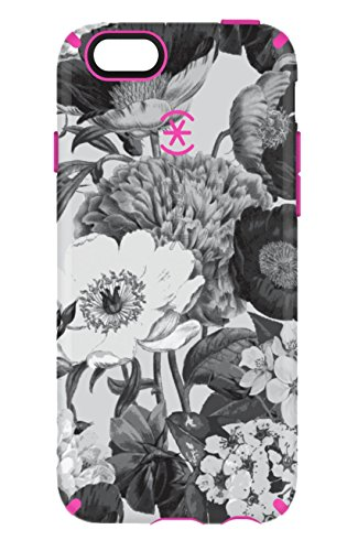 Speck Products CandyShell Inked Case for iPhone 6/6S - Vintage Bouquet Grey/Shocking Pink (Iphone 6 Vintage Case compare prices)