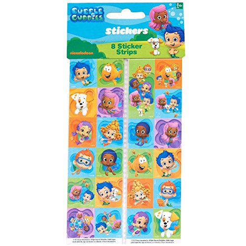 Bubble Guppies Sticker Sheets, 8 Count, Party Supplies - 1