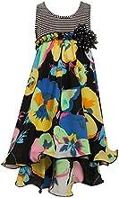 Bonnie Jean Big Girls39 Striped to Chiffon Floral Hi Lo Dress
