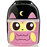 CuteZCute 2-Tier Kids Bento Lunch Box Food Container, Baby Night Owl