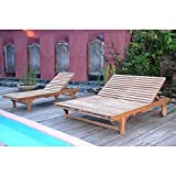 Anderson Teak Bel-Air Sun Double Chaise Lounge Chair