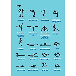 Visual Aid Yoga Blank Greetings /Birthday Card 5 x 7