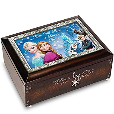 """Brown Or Blue Disney FROZEN Music Box Plays the Melody of """"Let It Go"""" by The Bradford Exchange"""