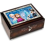"Disney FROZEN Brown Music Box Plays the Melody of ""Let It Go"" by The Bradford Exchange"