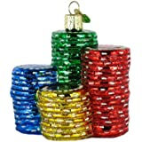 Old World Christmas Poker Chips Ornament