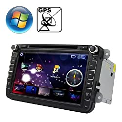 See Rungrace 8.0 inch Windows CE 6.0 TFT Screen In-Dash Car DVD Player for Volkswagen with Bluetooth / GPS / RDS Details