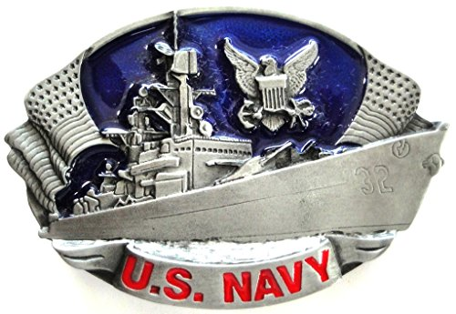 US NAVY - SHIP BELT BUCKLE; MADE IN USA