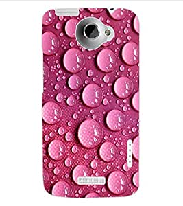 ColourCraft Beautiful Water Drops Design Back Case Cover for HTC ONE X