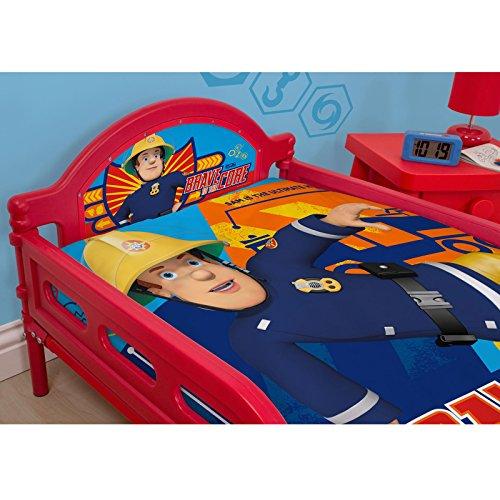 Fireman Sam Brave Junior Toddler Bed plus matelas Deluxe
